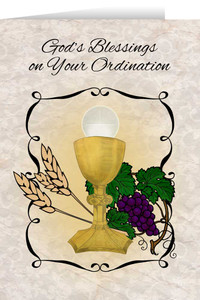 Chalice and Host Ordination Greeting Card