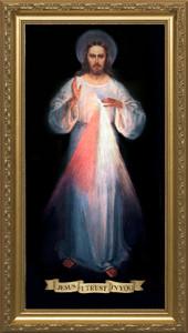 Divine Mercy Vilnius Original - Standard Gold Framed Art