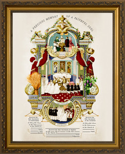 Traditional Sacraments of Initiation Record Certificate in Gold Frame
