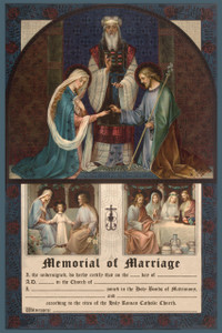 Traditional Joseph and Mary Marriage Sacrament Certificate Unframed