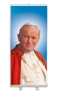Pope St. John Paul II Sainthood Banner Stand