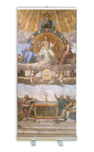 Disputation of the Eucharist by Raphael Banner Stand