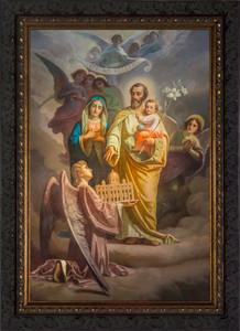 Joseph, Patron of the Church - Ornate Dark Framed Art