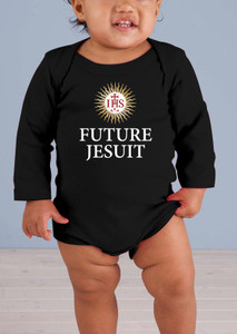 Future Jesuit Long-Sleeve Baby Onesie