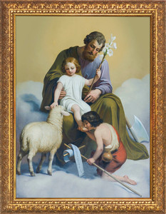 St. Joseph Guardian of Sons - Standard Gold Framed Art