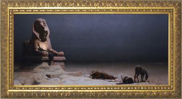 Rest on the Flight into Egypt Gold Framed Art
