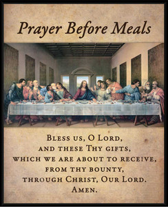 Prayer Before Meals with the Last Supper Wall Plaque
