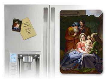 Holy Family with Grandparents Joachim and Anne Magnet