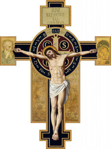 Benedictine Large Wall Plaque Crucifix