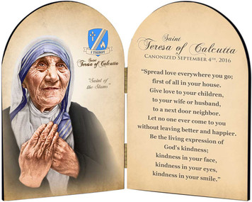 Commemorative St. Teresa of Calcutta Arched Quote Diptych