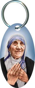 St. Teresa of Calcutta Oval Keychain