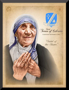 St. Teresa of Calcutta Commemorative Wall Plaque