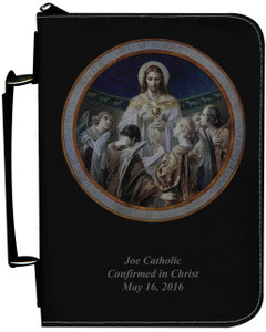 Personalized Bible Cover with Bread of Angels Graphic - Black