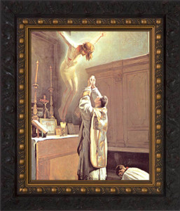 The Holy Sacrifice of the Mass - Ornate Dark Framed Art