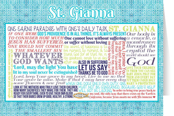 Saint Gianna Quote Card