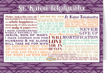 Saint Kateri Tekakwitha Quote Card