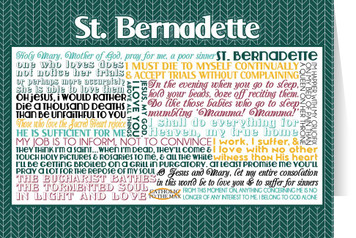 Saint Bernadette Quote Card