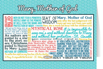 Mary, Mother of God Quote Card