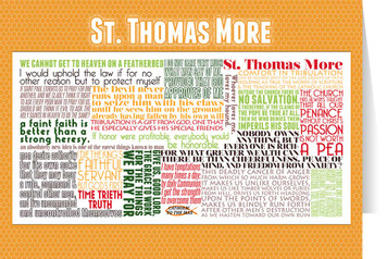 Saint Thomas More Quote Card