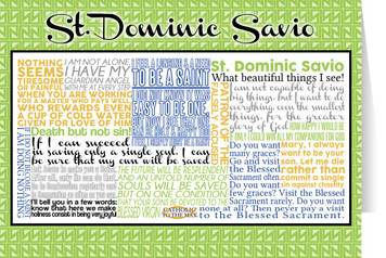 Saint Dominic Savio Quote Card