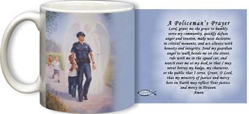 The Protector: Police Guardian Angel Mug with Policeman's Prayer
