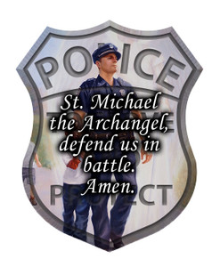 The Protector: Police Guardian Angel Visor Clip with St. Michael Prayer