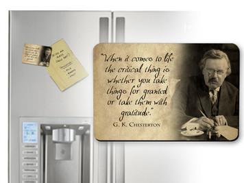 G.K. Chesterton Gratitude Quote Magnet