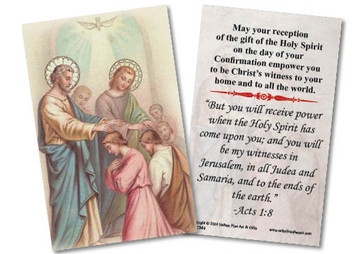 Apostles' Confirmation Holy Card