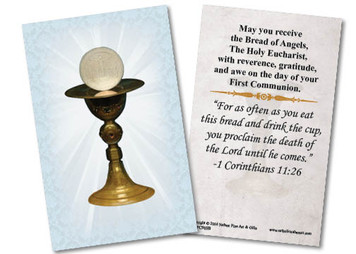 Chalice First Communion Holy Card II