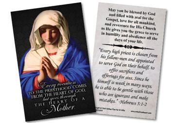 Marian Ordination Holy Card