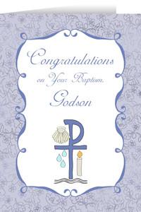 Godson's Baptism Greeting Card