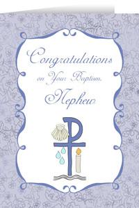 Nephew's Baptism Greeting Card