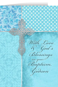 Godson, On Your Baptism Greeting Card