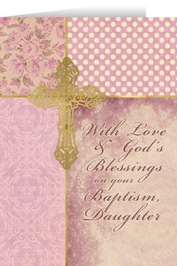 Daughter, On Your Baptism Greeting Card