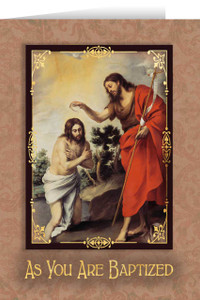 Baptism in the Jordan Baptism Greeting Card