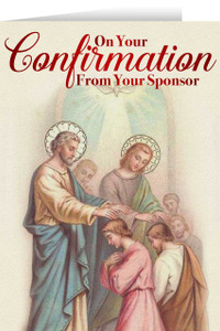 From Your Sponsor Apostles' Confirmation Greeting Card