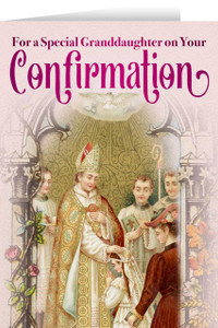 Granddaughter's Confirmation Greeting Card