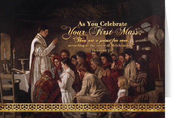 Mass in a Connemara Cabin Ordination Greeting Card