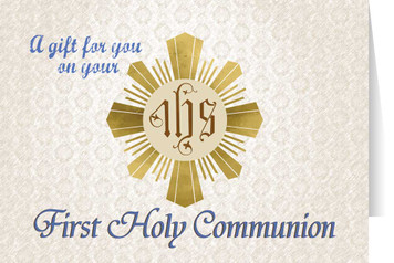 Eucharist First Communion Greeting Card