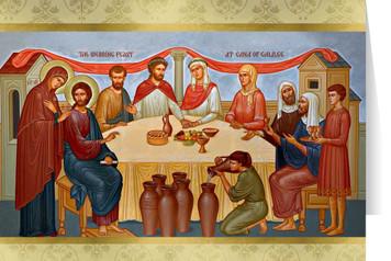 Wedding Feast at Cana Icon Wedding Greeting Card