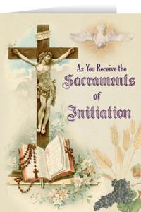 Crucifix RCIA Greeting Card