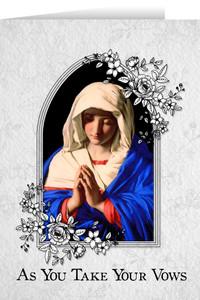 Marian Final Vows Greeting Card