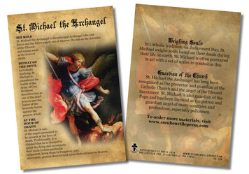 St. Michael the Archangel Faith Explained Card - Pack of 50