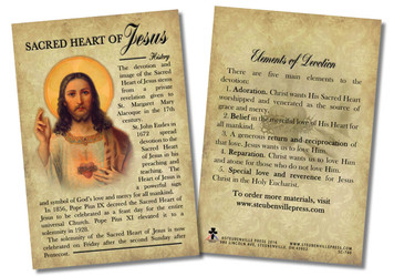 Sacred Heart Devotion Faith Explained Card - Pack of 50