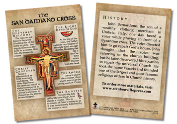 San Damiano Cross Faith Explained Card - Pack of 50