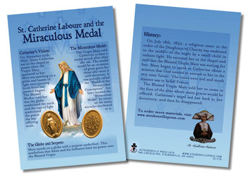 St. Catherine Laboure and the Miraculous Medal Faith Explained Card - Pack of 50