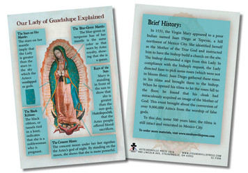 Our Lady of Guadalupe Faith Explained Card - Pack of 50