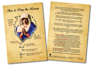 How to Pray the Rosary Faith Explained Card - Pack of 50