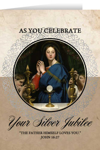 Madonna of the Host Silver Jubilee Greeting Cards