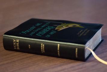Personalized Catholic Fisherman's Bible - Black Bonded Leather RSVCE